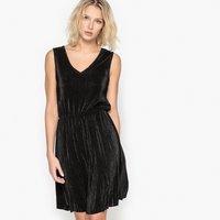 Pleated Plissé Dress