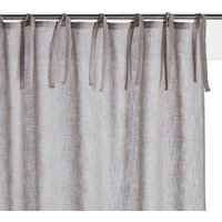 Nyong Plain Linen-Effect Curtain Panel (Tie-Top)