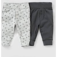 Pack of 2 Cotton Leggings, Birth-2 Years