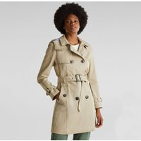Cotton Mix Trench Coat with Hood