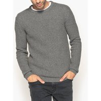 Crew Neck Chunky Knit Cotton Mix Jumper
