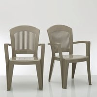 Set of 4 Stackable Garden Chairs