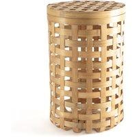 Jakemo Round Woven Bamboo Basket.