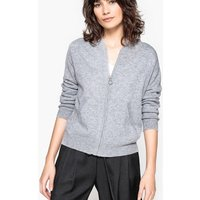 Hooded Cashmere Zip-Up Cardigan