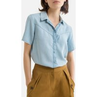 Lyocell Blouse with Short Sleeves.