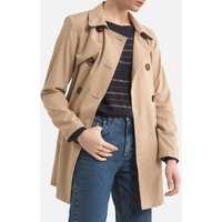 Buttoned Trench Coat with Tie-Waist