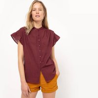 Straight Cut Frilled Blouse
