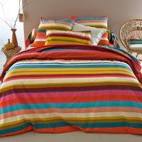 Paraisio Striped Cotton Flat Sheet