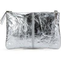 Metallic Pinatex Faux Leather Clutch Bag