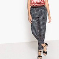 Janice Printed Straight Trousers