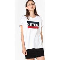 T-shirt bianco donna T-shirt OTHER GRAPHIC BOYFRIEND maniche corte