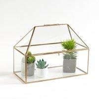 Uyova Mini Greenhouse in Glass and Brass
