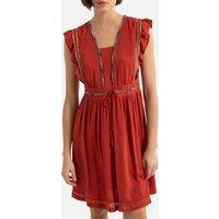 V-Neck Mini Dress with Short Sleeves