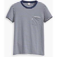 T-shirt Rigato bianco blu donna T-shirt THE PERFECT CREW scollo rotondo maniche corte