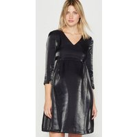 Metallic Effect Maternity Dress