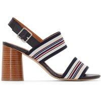 Striped Textile Sandals