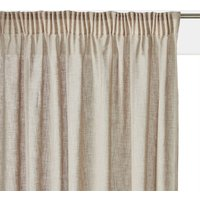 Nyong Linen Effect Voile Panel with Gathered Braid Finish.