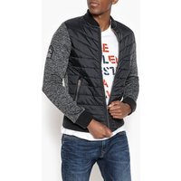 Dual Fabric Quilted Jacket