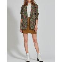 Coloured Denim Mini Skirt with High Waist