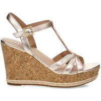 Melissa Metallic Leather Wedge Sandals