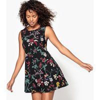 Short Floral Print Skater Dress