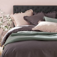 Nillow Ruffled Linen/Cotton Bolster Pillowcase