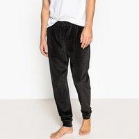 Pigiami Nero uomo Pantaloni pigiama in velluto