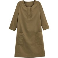 shop for Mini Shift Dress with 3/4 Length Sleeves and Pockets at Shopo