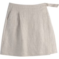 Linen Two Pocket Wrapover Skirt