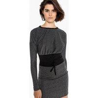 shop for Striped Metallic Corset Dress at Shopo