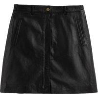 Leather A-Line Mini Skirt