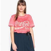 T-shirt Rosso chiné donna T-shirt scollo rotondo maniche corte grafica