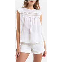 Cotton Flared Blouse.