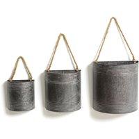 GLOBOSA Zing Hanging Flower Pots (Set of 3)