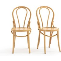 BISTRO Set of 2 Curved Bistro Style Chairs
