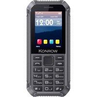 Konrow Stone Lite - Antichoc Certifié IP65 - 2.4 - Double Sim - Noir /