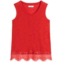 Linen Laced Hem Vest Top