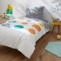 Planets Children's Printed Cotton Duvet Cover