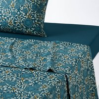 APRIL Floral Washed Cotton Flat Sheet