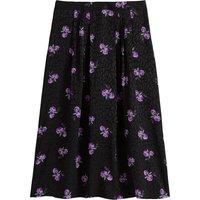 shop for Floral Print Jacquard Midi Skirt at Shopo