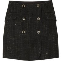 Tweed Wrapover Mini Skirt