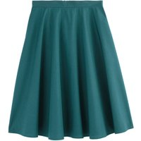 shop for Flared Mid-Length Skirt in Cotton Poplin with Pockets at Shopo