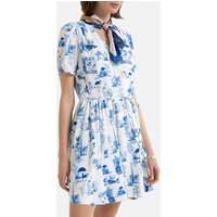 shop for Printed Wrapover Dress with Short Sleeves at Shopo