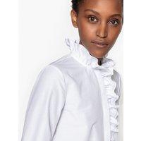 Shirt with Ruffled Collar