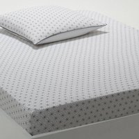 Nordic Geometric Printed Cotton Fitted Sheet