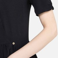 shop for Wrapover Midaxi Dress with Short Sleeves and Tie-Waist at Shopo