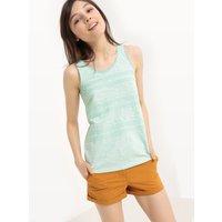 T-shirt turchese chiaro donna Top ricamato Cotone