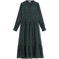 shop for Floral Print Midaxi Shirt Dress at Shopo
