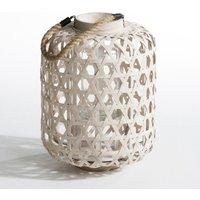 Procida Woven Bamboo Candle Holder