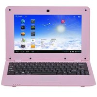 Mini PC Android ultra portable netbook 10 pouces WiFi 8 Go Rose